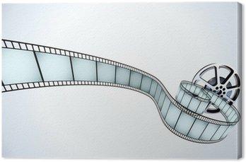 Obraz na Płótnie Ilustrator wektor rolce filmu pasem narażonych ramek