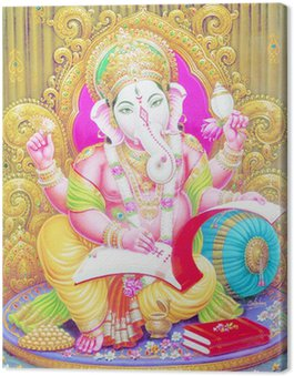 Obraz na Płótnie Indian Ganesh ji kod