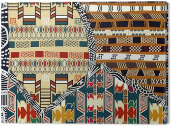 Obraz na Płótnie Indian plemiennych kolorowych ilustracji bez szwu pattern.Vector