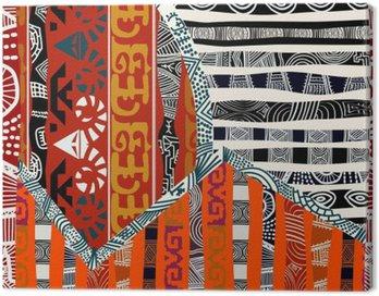 Obraz na Płótnie Indian tribal bez szwu pattern.Vector ilustracji