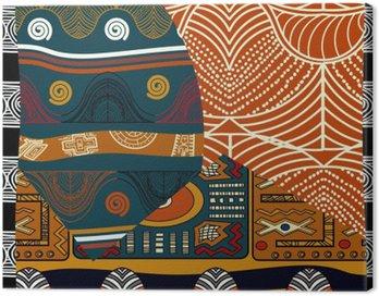 Obraz na Płótnie Indyjski kolorowych ilustracji bez szwu pattern.Vector