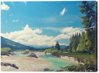 Obraz na Płótnie Isar wypływa z Alp