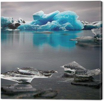 Obraz na Płótnie Islandia lodowiec lód niebieski