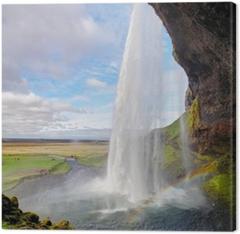 Obraz na Płótnie Islandia Wodospad - Seljalandsfoss