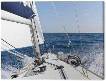 Obraz na Płótnie Jacht żaglowy Prędkość w morzu