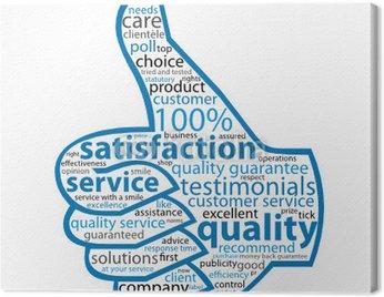 Obraz na Płótnie JAKOŚĆ-SERVICE-SATYSFAKCJA Tag Cloud (kciuki do góry klienta)