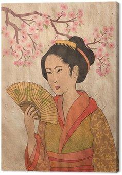 Obraz na Płótnie Japanese Geisha