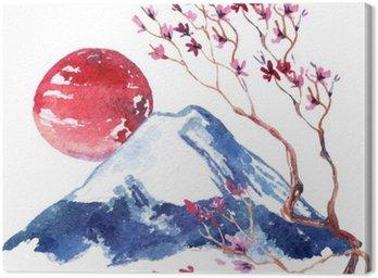 Obraz na Płótnie Japonia kwitnaca wisnia