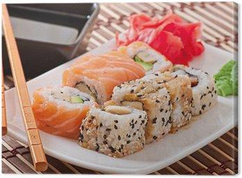 Obraz na Płótnie Japońskie jedzenie - sushi i sashimi