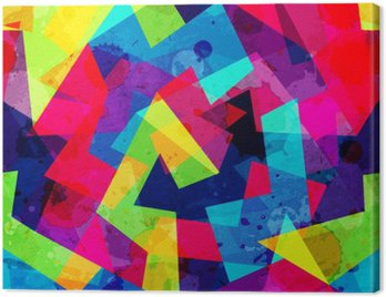 Obraz na Płótnie Jasny geometryczny szwu z mocą grunge