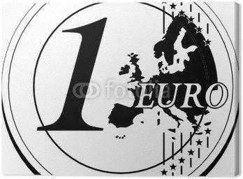 Obraz na Płótnie Jedna moneta euro