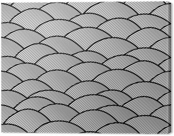 Obraz na Płótnie Jednolite abstrakcyjne ręcznie rysowane wzór, fale tle