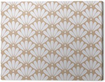 Obraz na Płótnie Jednolite beżowy orientalny kwiatowy wzór wektora