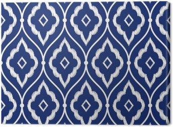 Obraz na Płótnie Jednolite indygo niebieski i biały rocznika wzór perski Ikat