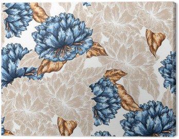Obraz na Płótnie Jednolite kwiatowy wzór graficzny