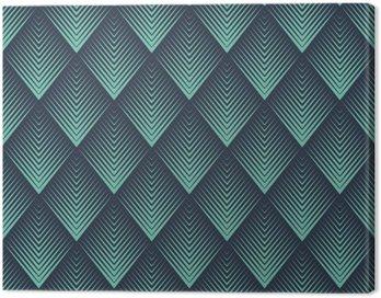 Obraz na Płótnie Jednolite niebieski neon op-art rombowy Chevron mieszanka wektor wzór