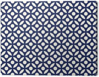 Jednolite porcelany indygo niebieski i biały arabski okrągłe wektor wzór