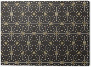 Obraz na Płótnie Jednolite rocznika antyczny paleta japońskie asanoha izometrycznym wektor wzór