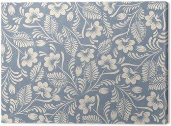 Obraz na Płótnie Jednolite tło w stylu folk niebieski