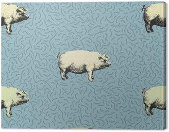 Obraz na Płótnie Jednolite wektor wzorca rozum świń