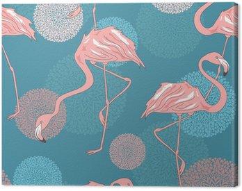 Obraz na Płótnie Jednolite wzór flamingów