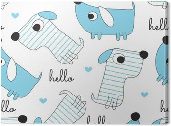 Obraz na Płótnie Jednolite wzór pies - ilustracji wektorowych