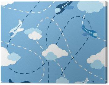 Obraz na Płótnie Jednolite wzór samolot