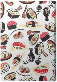 Obraz na Płótnie Jednolite wzór tradycyjnej kuchni japońskiej