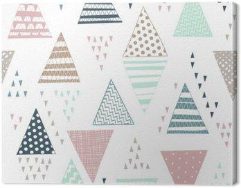 Jednolite wzór z ozdobnymi ręcznie rysowane trójkąty.