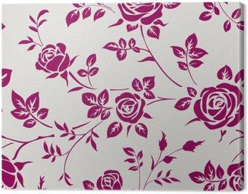 Obraz na Płótnie Jednolite wzór z róż