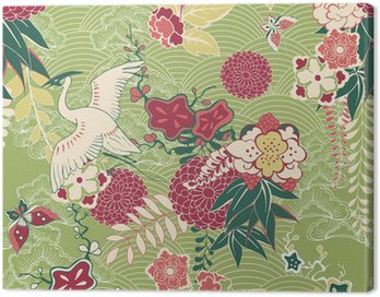 Obraz na Płótnie Jedwab, wzór, orientalne