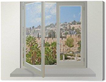 Obraz na Płótnie Jerozolima w oknie