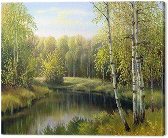 Obraz na Płótnie Jesień krajobraz, płótno, olej