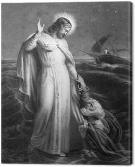 Obraz na Płótnie Jezus Chrystus chodzenia na morzu