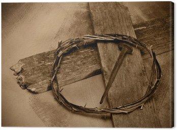 Obraz na Płótnie Jezus Chrystus Krzyż, paznokci i koronę z cierni