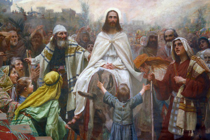 Obraz na Płótnie Jezus w Niedzielę Palmową - Tematy