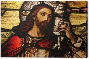 Obraz na Płótnie Jezus z Barankiem