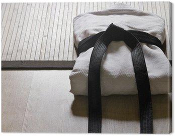 Obraz na Płótnie Judo gi z czarnym pasem