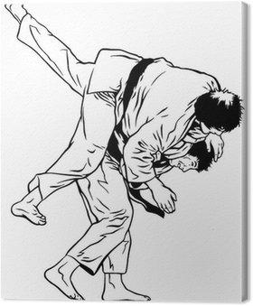 Obraz na Płótnie Judo rzucać.