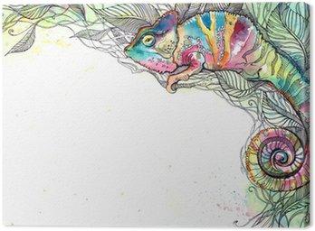 Obraz na Płótnie Kameleon
