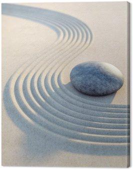 Obraz na Płótnie Kamieni i piasku fale w formacie pionowym