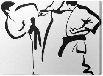 Obraz na Płótnie Karate Kämpfer