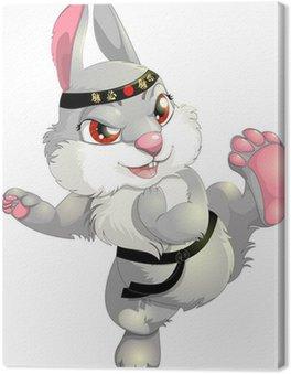 Obraz na Płótnie Karate królika