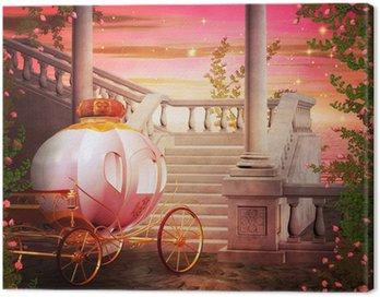 Obraz na Płótnie Karetka Zamek fantasy, tło