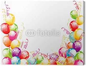 Karta z zaproszeniem na urodziny. Dymki projektowania