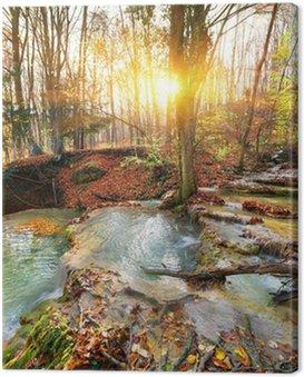 Obraz na Płótnie Kaskada rzeki