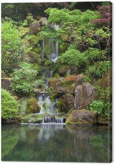 Obraz na Płótnie Kaskadowe wodospad w japoński ogród w Portland