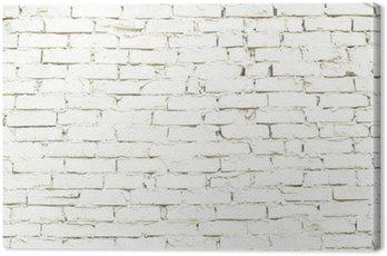 Obraz na Płótnie Kawałek ściany białej cegły