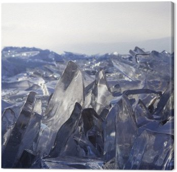 Obraz na Płótnie Kawałki lodu błyszczą w słońcu. Bajkał, Rosja.