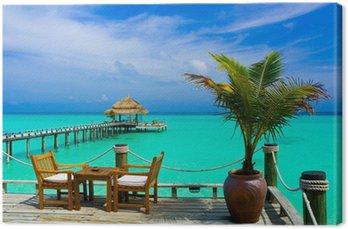 Obraz na Płótnie Kawiarnia na plaży